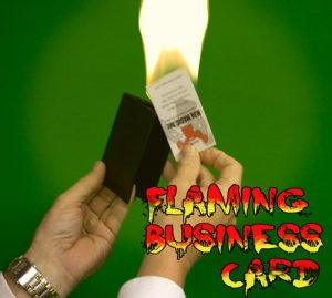 Flaming Business Card from Wallet